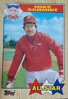 1987 Topps Mike Schmidt Philadelphia Phillies #597 Baseball Card
