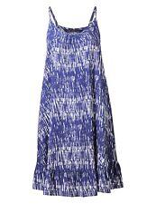Brand New Ex Marks & Spencer Navy Print Frill Dress Sizes 8-10-14-16-20-22