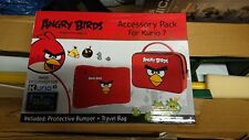 More details for angry birds kurio 7 protective skin bumper and travel bag accessory pack red