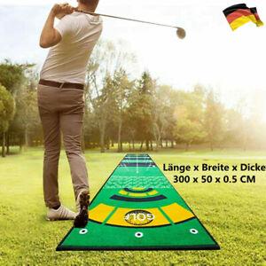 Golf Putting Matte 50*300CM Golfmatte Übungsmatte Drinnen/Draußen Training Matte