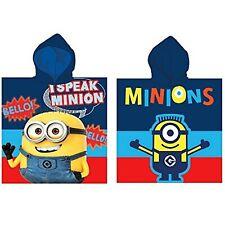 Despicable Me I Speak Minion Kids Children Hooded Poncho Towel