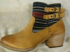CAT by Caterpillar MILLA CANVAS LADIES BOOTIE~ COLOR~SUNNY TRIBAL 9.5 M