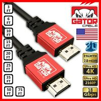Ultra High Speed HDMI 2.0 UHD TV Cable 3D 2160P 4K HDR 60Hz 18Gbps PS4 Xbox LOT