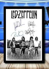 More details for (380) led zeppelin signed photograph unframed/framed reprint) @@@@@@@@@@@@@