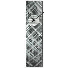 Modern Wall Clock Silver Home Decor Silver Abstract Kitchen Metal Wall Clock