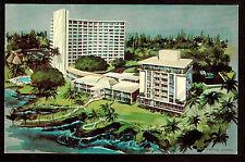 c1966 Nani Li'i artist rendering new Naniloa Hotel Big Island Hawaii postcard