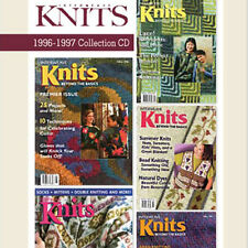 5 Issues on CD: INTERWEAVE KNITS MAGAZINE 1996 - 1997 Gloves Button Making Tams