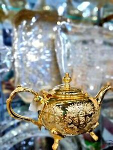Moroccan traditional Handmade  Gold Teapot *NEW* Large Size