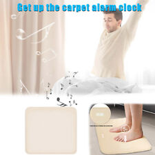 Stand On Pressure Sensitive Battery Smart Alarm Clock Mat Floor Rug LED Time