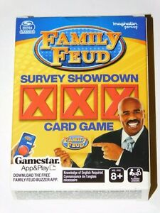 SPIN MASTER GAMES FAMILY FEUD SURVEY SHOWDOWN CARD GAME (New In Box)