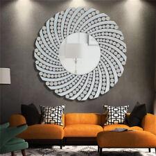 Large Wall Hung Round Circular Mirror Glass Bedroom Living Bathroom Hallway Deco