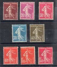 FRANCE: SERIE COMPLETE DE 8 TIMBRES TYPE SEMEUSE NEUF** N°189/196 Cote: 92€