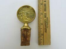 Vintage Rare 1952 Helsinki Olympics Souvenir Gold Medal Bottle Topper / Stopper