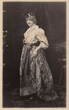 Lady c 1915  (?), RP  Paisley Gown  puffed sleeves,  sash bow,  toque    RK535