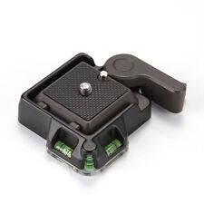 """QR Quick Release Clamp Adapter Plate 1/4"""" 3/8"""" For Tripod Ball Head Arca Benro"""
