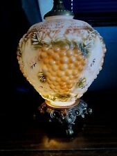 VINTAGE, GRAPE CLUSTER;( POSSIBLE FALKENSTEIN) TABLE LAMP WITH SHADE