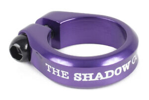 """SHADOW CONSPIRACY ALFRED BMX BIKE BICYCLE SEAT POST CLAMP 1 1/8"""" SUBROSA PURPLE"""
