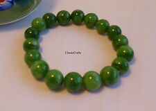 Chinese Green han Jade (cold jade) 8mm round beads bracelet