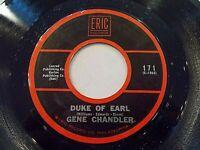 Gene Chandler Duke Of Earl / Check Yourself 45 1962 Eric Reissue Vinyl Record