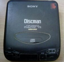 Vintage Retro SONY Walkman D-33 CD Compact Disc Player Discman WORKING