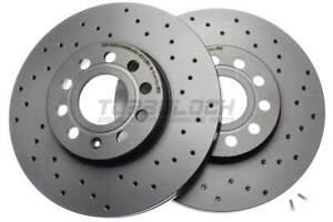"""Brembo """"XTRA"""" Bremsscheiben gelocht 09.9145.1X vorne - Audi Seat Skoda VW"""