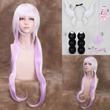 Miss Kobayashi's Dragon Maid Kanna Kamui Larga Cosplay Peluca + bolas + Cola + Horns Nuevo