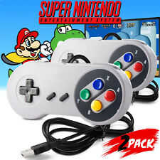 2 Pack SNES USB Controller GamePad for Windows PC MAC Linux Raspberry Pi 3