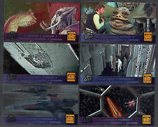 STAR WARS TRILOGY SPECIAL EDITION (Topps/1997) Complete LASER Chase Card Set (6)