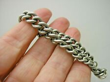Victorian Solid Silver Graduated Link Bracelet