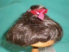 "doll wig dark brown 8"" to 9"" short hair/Playhouse"