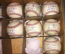 (6) Game Used Signed ACTUAL Chris Carpenter Strikeout K Baseballs MLB HOLO