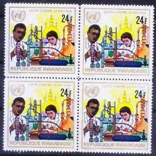 Rwanda 1972 MNH Blk, Research, Science, Anti Racism, Black & White -Y118