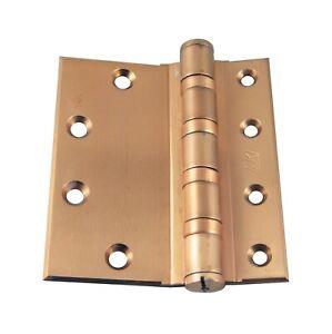 Old New Brass 5 x 4.5 McKinney Door Hinge with Half Mortise
