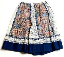 Vintage Carefree Fashions Scottsdale Arizona Prairie Skirt L Boho Festival Retro