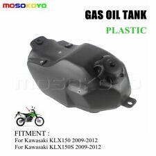 Motorcycle Plastic Petrol Gas Fuel Tank For KAWASAKI KLX150 KLX150S 09-12 Black