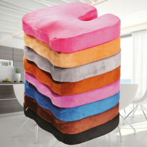 Premium Memory Foam Coccyx Seat Cushion Support Pillow Sciatica Pain Relief