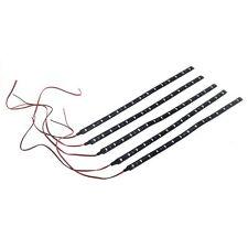 5 x 30CM Impermeabile Striscia Strip 15 LED 3528 SMD Bianco Freddo DC12V pe X0J5
