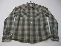 HOLLISTER Shirt Men's Size L 100% Cotton Long Sleeve Button-Front Gray Plaid