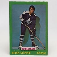 1973 74 OPC O Pee Chee Brian Glennie 170 Toronto Maple Leafs Hockey Card E649