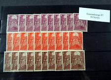 Luxemburg 1957, Cept Serie **/MNH per 10, (ME 1200,-)
