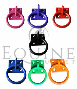 Coloured Tie Ring on Plate (Equestrian, Stable, Horse, Haynet)