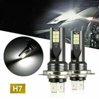 2Pcs H7 CREE LED SMD 200W Super Bright Headlight Headlamp Fog Light Bulbs LD1850