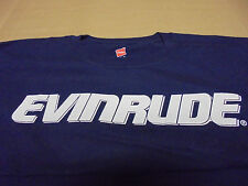 EVINRUDE Front BRP Logo Back T-Shirt Dark Blue w/ White Print Size 3XL Adult NEW
