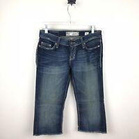 BKE Denim Buckle Sabrina Stretch Capri Cropped Jeans Size 26