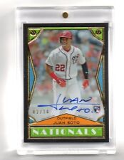 🔥2018 TOPPS BROOKLYN COLLECTION JUAN SOTO BLACK AUTOGRAPH #02/10 NATS ROOKIE🔥