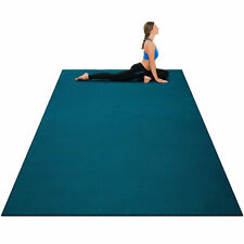 Large Yoga Mat 6' x 4' x 8 mm Thick Workout Mats for Home Gym Flooring Blue