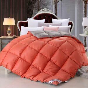 100% White Goose Down Comforter Duvet Insert Blanket Filling Feather 2021 New #