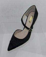 Women's Louise et Cie Inulya Black Calf Hair Pointed Toe Strap Heels Size 10 M