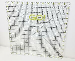 Accuquilt GO Acrylic Quilt Template Square 12.5 Inch Quilting Ruler