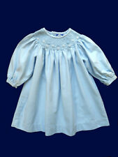Girls Carriage Boutiques Smocked Blue Bishop Party Dress 9 mos Portrait Church